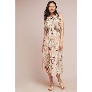 NWT silk Anthropologie maxi dress
